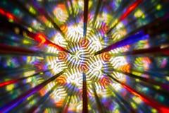 Powtórkowy wzór odbiciami wizerunek w lustrach Koloru kalejdoskopowy wizerunek royalty ilustracja