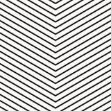 Powtarzalny bezszwowy wzór z liniami Grayscale geometryczny patt ilustracja wektor