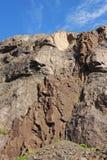 Powulkaniczna Iceland skała pokazuje swój skład Zdjęcie Stock