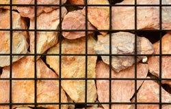 Powulkaniczna kamienia i stali sieć fechtuje się teksturę Zdjęcie Royalty Free