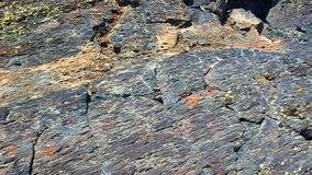 Powulkaniczna skała w Idaho zdjęcie wideo