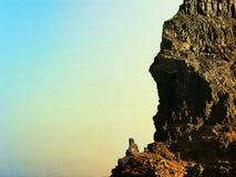 Powulkaniczna wyspy kanaryjskiej droga Lanzarote zdjęcia stock