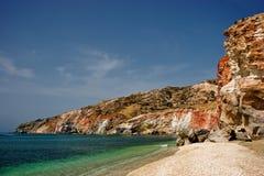 powulkaniczne barwione skał Zdjęcie Stock