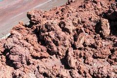 Powulkaniczne czerwieni skały obraz stock