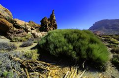 Powulkaniczne góry Tenerife obraz royalty free