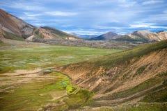 Powulkaniczne góry Landmannalaugar w Fjallabak rezerwacie przyrody Zdjęcia Royalty Free