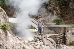 Powulkaniczni hotsprings Furnas na wyspie Sao Miguel, Portugalia Zdjęcia Royalty Free
