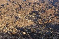 Powulkaniczni kamienie w parku narodowym Timanfaya Fotografia Stock