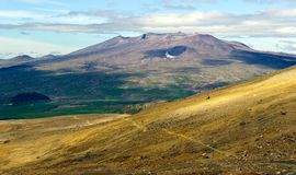 Powulkaniczni krajobrazy Kamchatka peninaula Fotografia Stock
