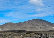 Powulkaniczny krajobraz, średniogórza Iceland, Europa obrazy stock