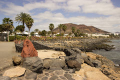 Powulkaniczny krajobraz, Lanzarote, wyspy kanaryjska, Hiszpania Zdjęcia Royalty Free