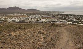 Powulkaniczny krajobraz, Lanzarote, wyspy kanaryjska, Hiszpania Zdjęcia Stock