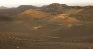 Powulkaniczny krajobraz, Lanzarote, wyspy kanaryjska, Hiszpania Fotografia Royalty Free