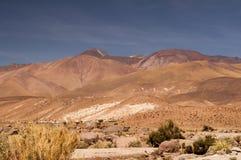 Powulkaniczny krajobraz na Atacama pustyni, Chile zdjęcia stock