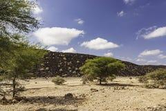 Powulkaniczny krajobraz w Djibouti Obraz Stock