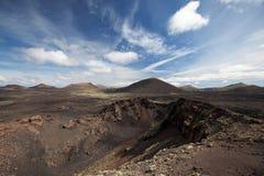Powulkaniczny krajobraz w Lanzarote Zdjęcie Stock