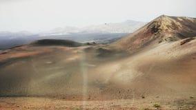 Powulkaniczny krajobraz w Lanzarote, Hiszpania Zdjęcie Stock