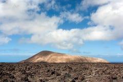 powulkaniczny krajobrazowy Lanzarote Obrazy Stock