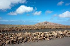 powulkaniczny krajobrazowy Lanzarote Obraz Royalty Free