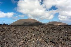 powulkaniczny krajobrazowy Lanzarote Obraz Stock
