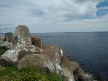 Powulkaniczny Krajobrazowy morze Zdjęcia Royalty Free