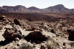 powulkaniczny krajobrazowy Tenerife Obrazy Royalty Free