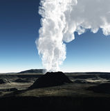 Powulkaniczny krater royalty ilustracja