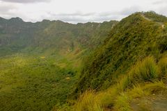 Powulkaniczny krater na górze Longonot, rift valley, Kenja Obrazy Stock
