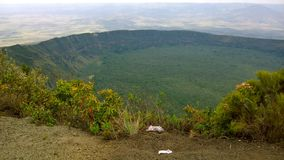 Powulkaniczny krater na górze Longonot, rift valley, Kenja Obrazy Royalty Free