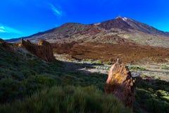 Powulkaniczny lawa krajobraz na Teide Fotografia Royalty Free