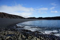 powulkaniczny plażowy otoczak Fotografia Stock
