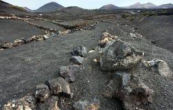 powulkaniczny pustynny Lanzarote Obrazy Stock