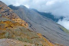 Powulkaniczny rożek Galeras wulkan w Pasto Kolumbia Zdjęcie Royalty Free