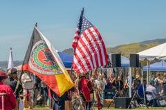 Powwow 2019 di giorno di Chumash e riunione Intertribal in Malibu, CA fotografie stock