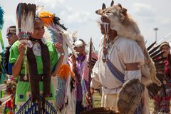 Powwow Native American Festival. Unidentified participants of the Powwow Native American Festival at Floyd Bennett Field on June 2, 2013 in Brooklyn, NY. The stock images
