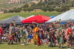 Powwow, riunione Intertribal in Malibu, California immagine stock libera da diritti