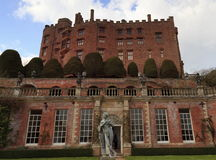 Powys Castle. And gardens near Welshpool stock photos