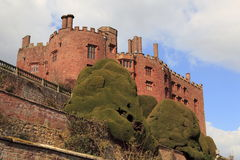 Powys Castle. And gardens near Welshpool Royalty Free Stock Photography