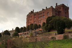 Powys Castle. And gardens near Welshpool Royalty Free Stock Image
