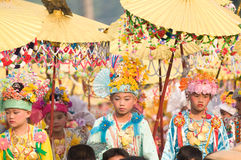 Poy Sang Long Ceremony in Mae Hong Son, Thailand stock photos
