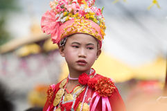 Poy Sang Long Ceremony in Mae Hong Son, Thailand Stock Photo