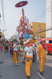 Poy Sang Long. CHIANG MAI, THAILAND - MARCH 29 : Poy Sang Long festival, A Ceremony of boys to become novice monk, parade around township to Ku Tao temple on royalty free stock photography