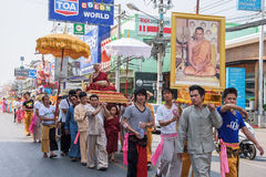 Poy Sang Long. CHIANG MAI, THAILAND - MARCH 29 : Poy Sang Long festival, A Ceremony of boys to become novice monk, parade around township to Ku Tao temple on stock photos