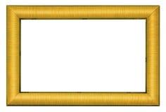 Pozłocista obrazek rama odizolowywająca na bielu Obrazy Stock
