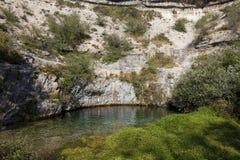 Poza azul, Covanera, Burgos Royalty Free Stock Images