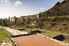 Poza de la Sal, Las Merindades al norte de Burgos, Castilla y León Foto de archivo libre de regalías