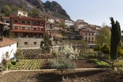 Poza de la Sal, Las Merindades nord av Burgos, Castilla y Leon royaltyfri foto