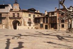 Poza de la Sal, Las Merindades nord av Burgos, Castilla y Leon royaltyfri bild