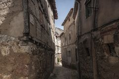 Poza de la Sal, Las Merindades nord av Burgos, Castilla y Leon royaltyfria bilder