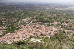 Poza de la Sal, Las Merindades nord av Burgos, Castilla y Leon arkivbilder